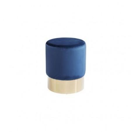 Velvet round pouf for rent