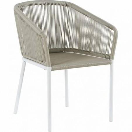 Imitation rattan garden armchair