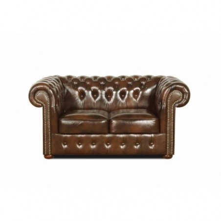 2 seater chesterfield sofa in genuine leather