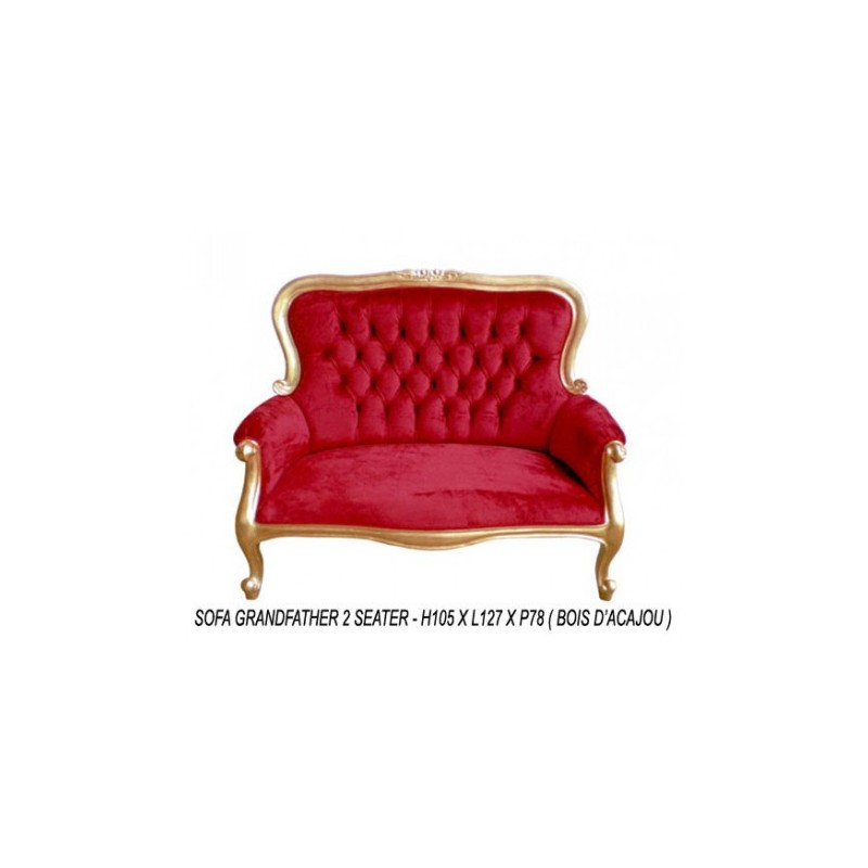 Grandfather red baroque bench