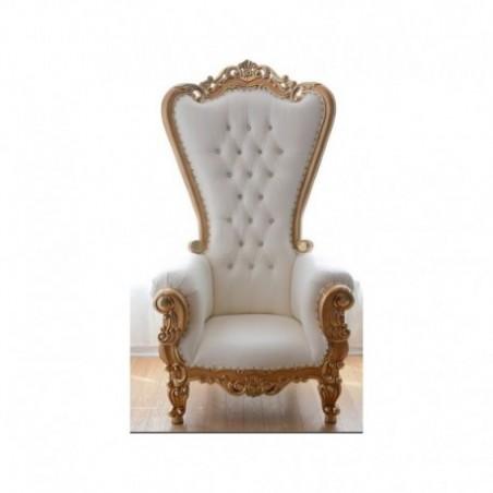 White wedding trone