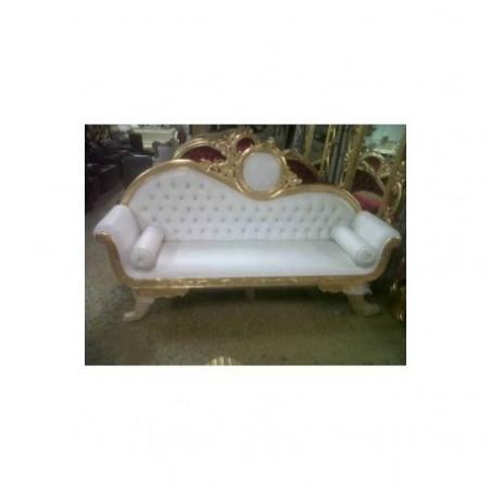 Golden and white sofa