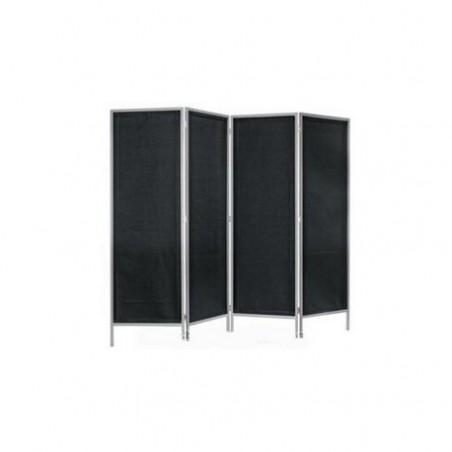 Black 4-fold screen dark gray
