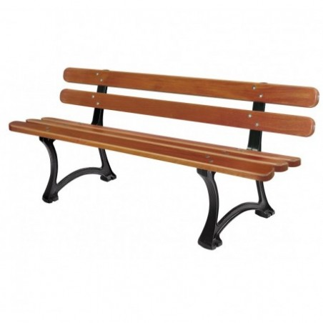 Rent wooden bench and cast iron for rent