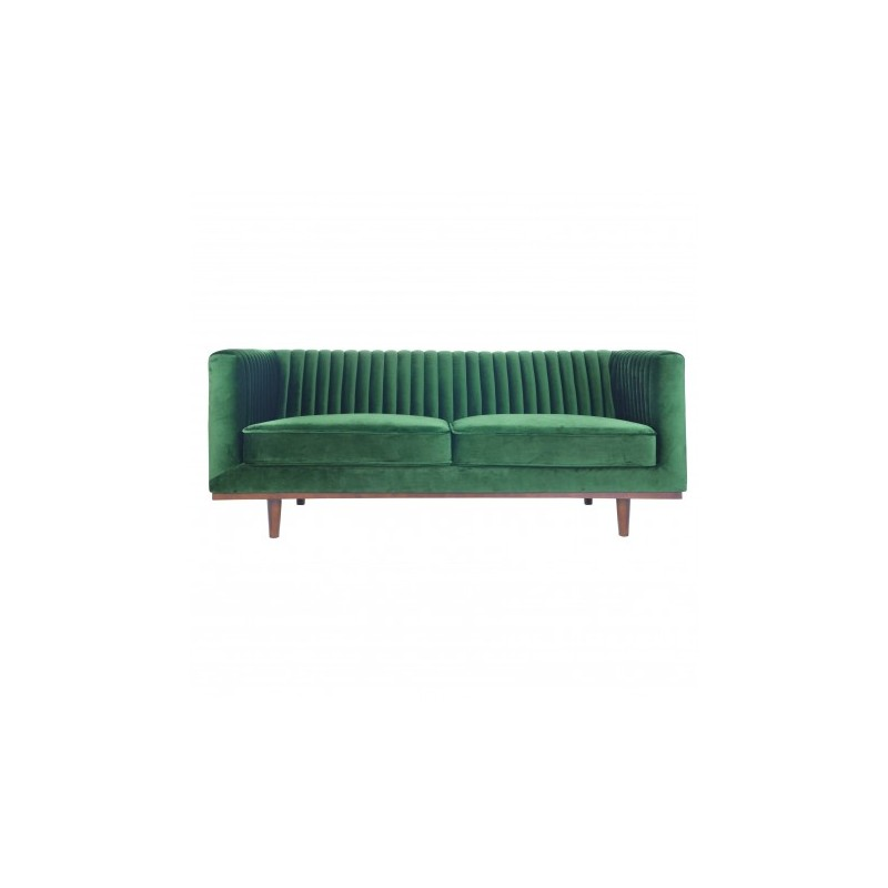 2 seater sofa in green velvet