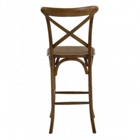 Hire wooden and rattan bar chair