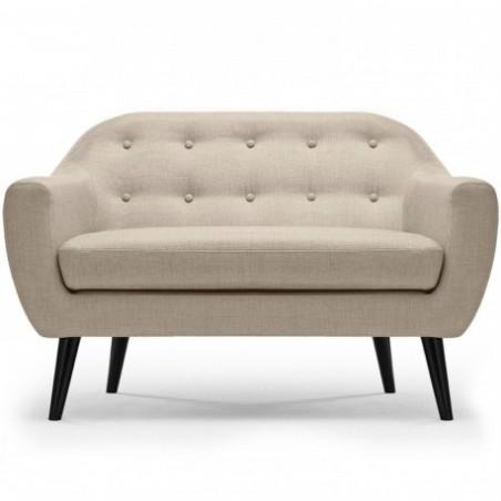 Scandinavian beige 2 seater sofa