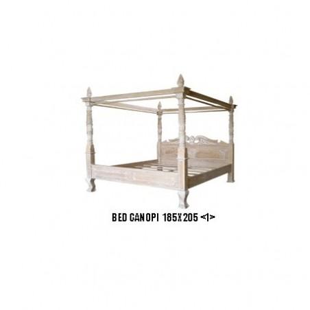 Bed rental badaquin wood ceruse 180 cm