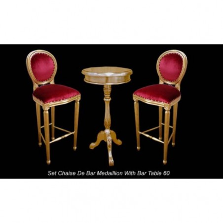 Medallion bar chair