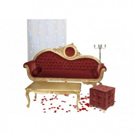 Oriental wedding sofa and coffee table