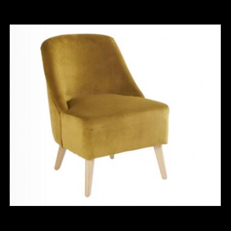 Retro mustard style armchairs