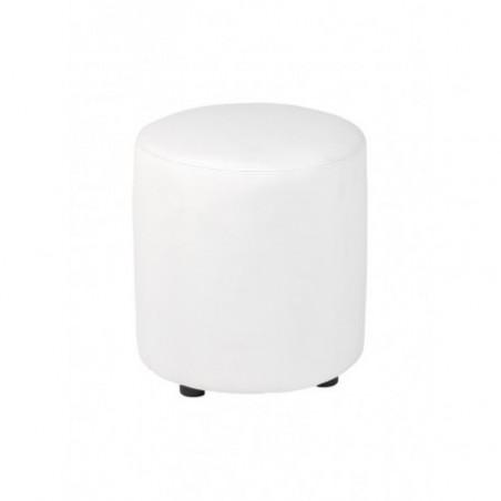 White faux pouf rental