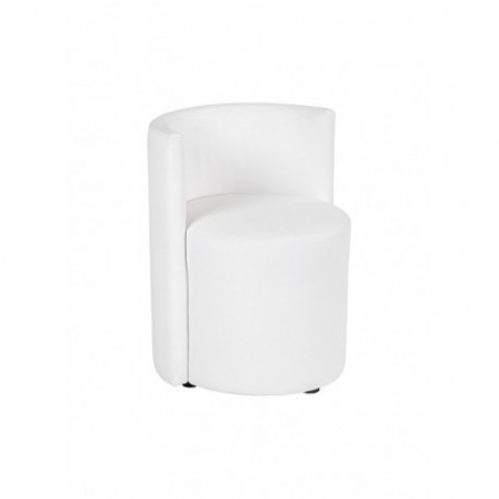 Lounge chair in white faux leather