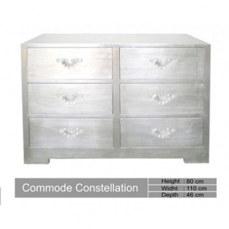 Constellation Silver Wood Dresser