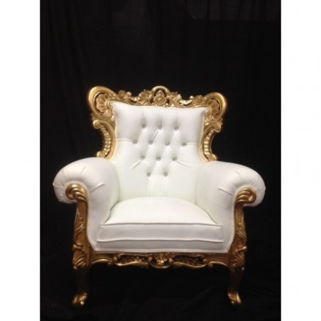 Golden wedding armchair