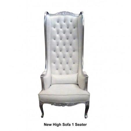High back baroque armchair