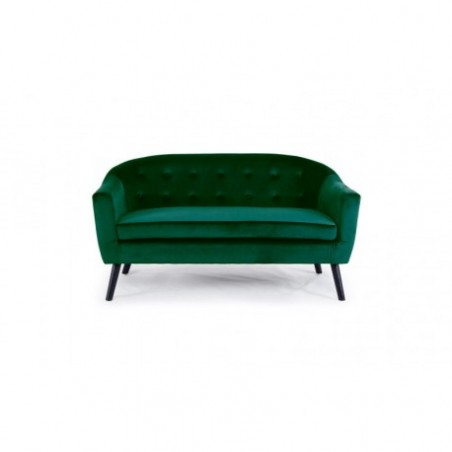 Nordic style 2 seater green sofa