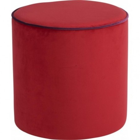 Round red beanbag