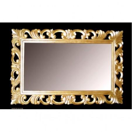 Golden baroque mirror