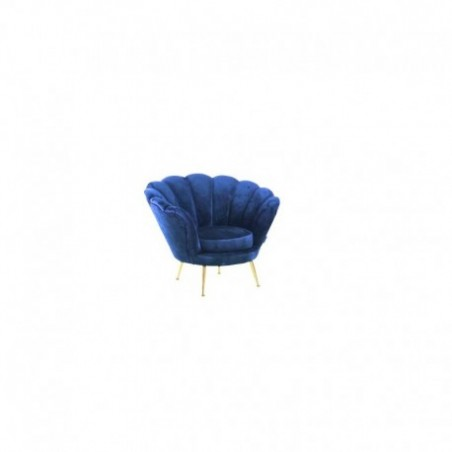 Blue velvet armchair rental