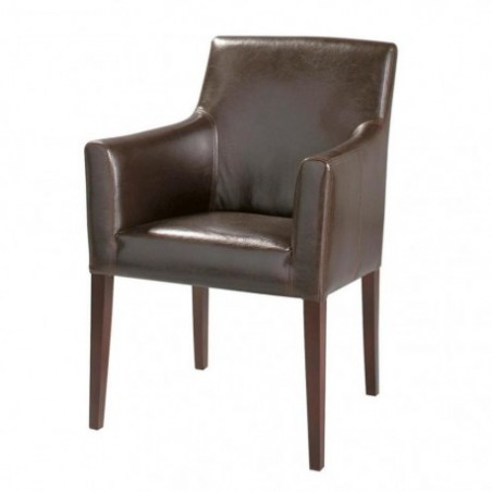 Leather bridge armchair