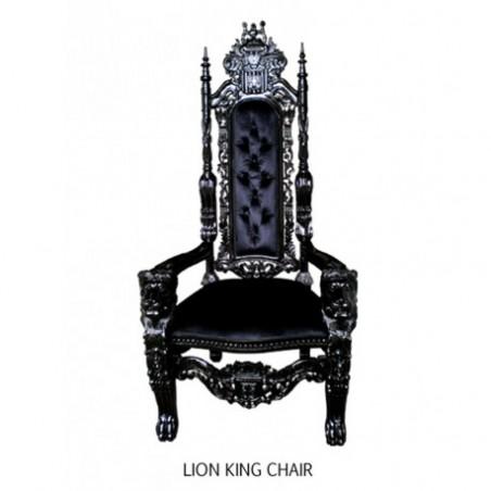 Black baroque trone