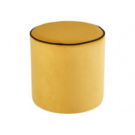 Yellow round pouf for rent