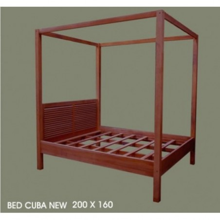 Rent Bed Wooden Baldaquin Model New