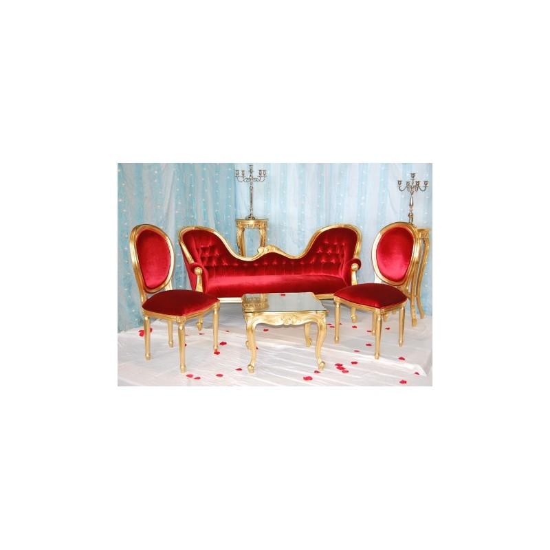 Golden wedding trone
