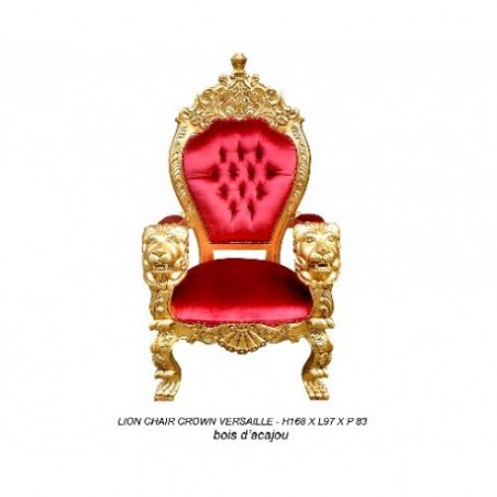 Red trone armchair