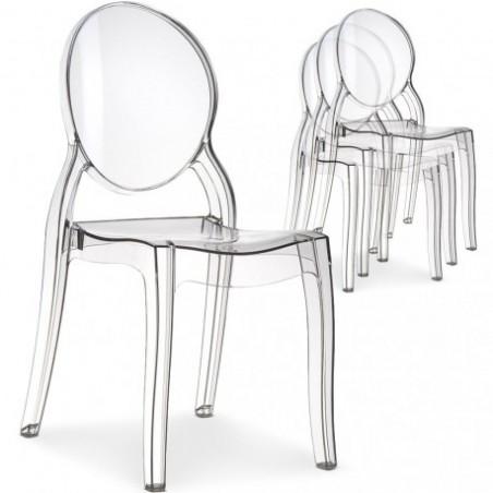 Transparent medallion chair STARCK style