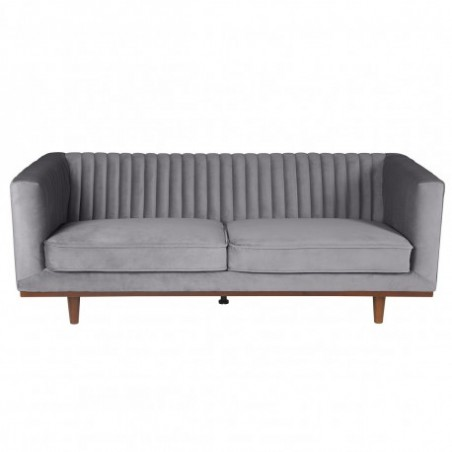 3 seater sofa in gray velvet