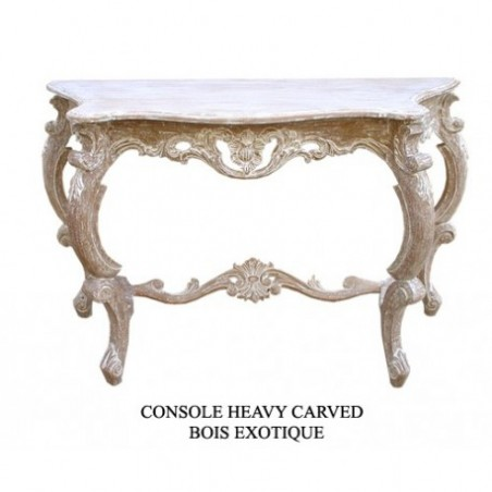 Console cerused wood
