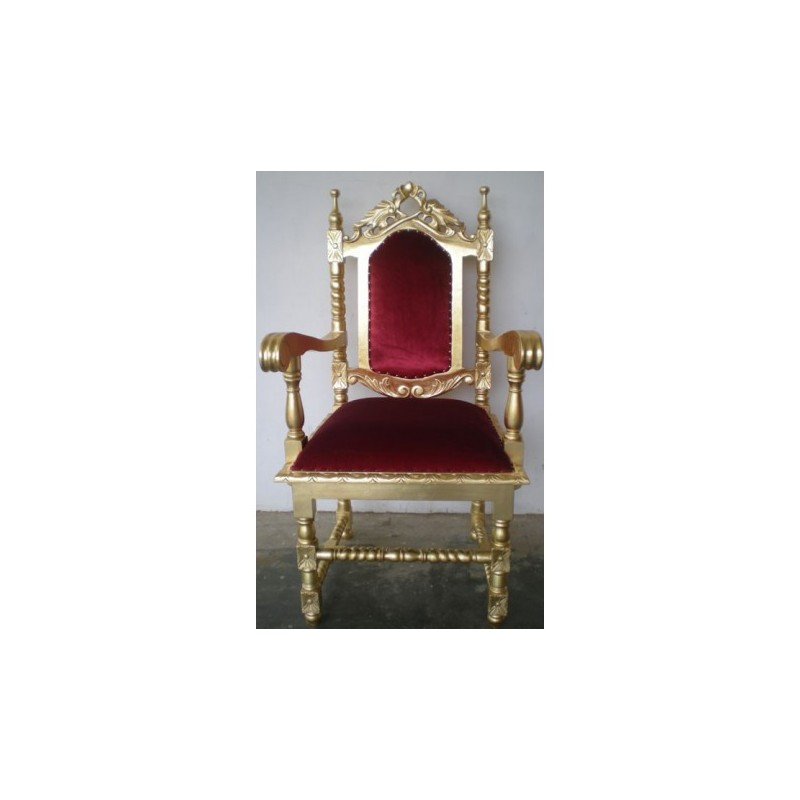 Throne wheelchair rental gold and red velvet theater