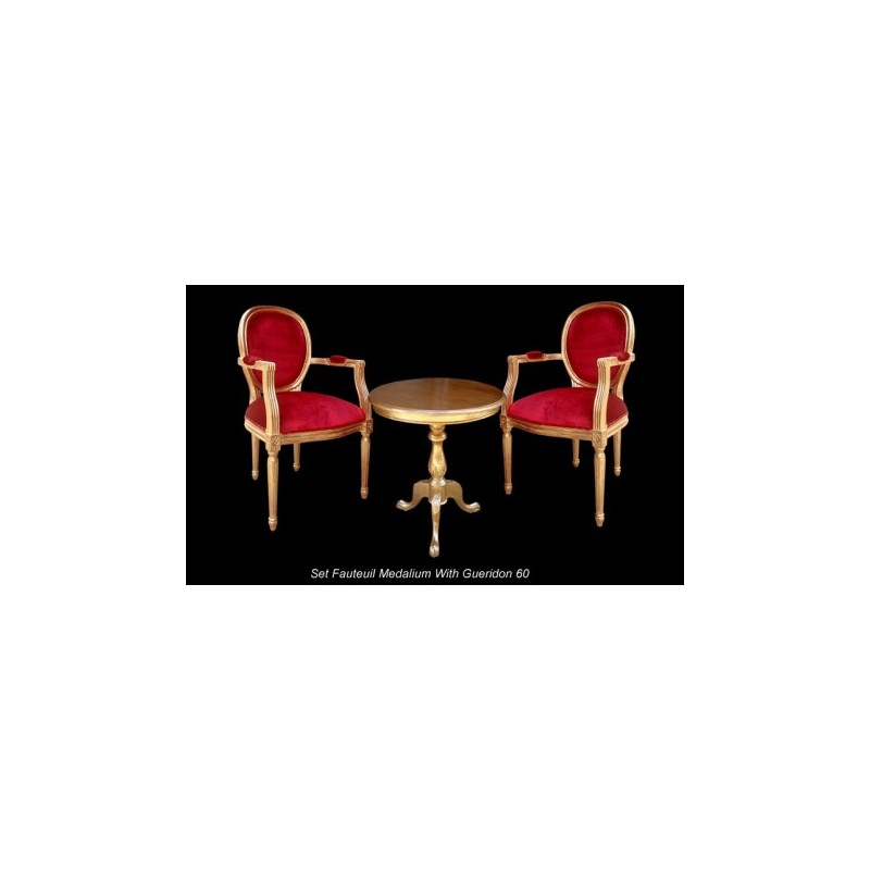 Wedding corner pack Louis XVI golden and red