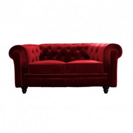 Red velvet sofa