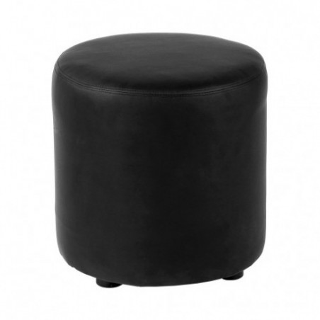 Black round pouf rental