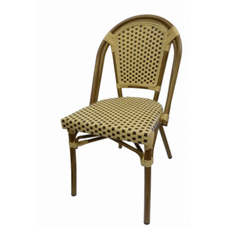 Rattan aspect chair