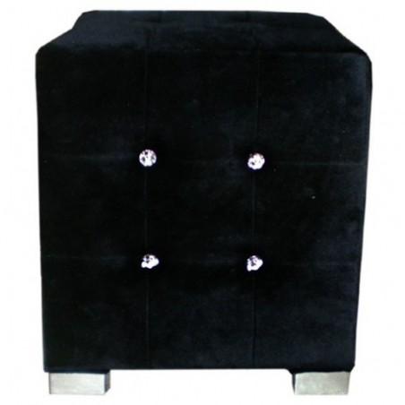Black velvet beanbag rental