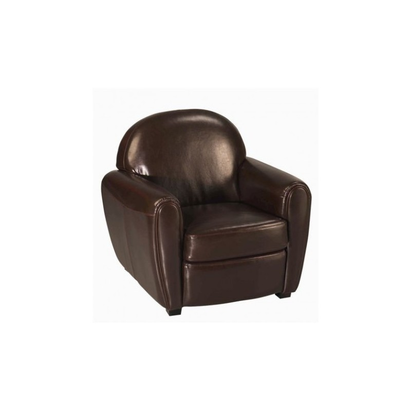 Club chair rental in chocolate brown leather