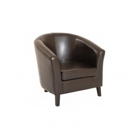 Choco leather convertible armchair rental