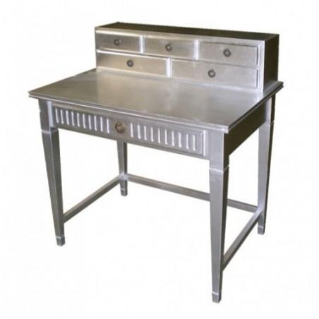 Silver wood desk