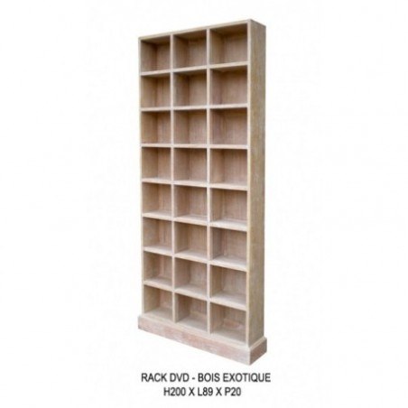 Wooden dvd storage unit