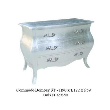 Argente Wooden Dresser Model Bombay 3 Drawers