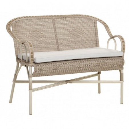 Retro style rattan bench rental