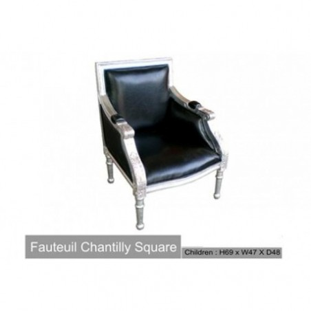Black and Silver Wood Chair Childrens Chair