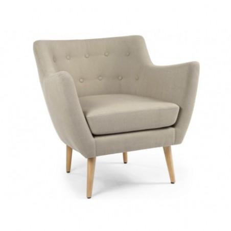 Scandinavian beige armchair rental