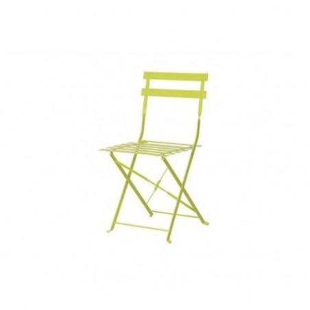 Metal garden chair table