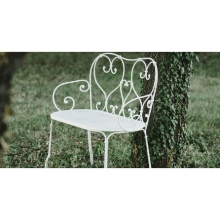 Wrought iron garden bench rental