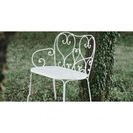 Wrought iron garden bench rental